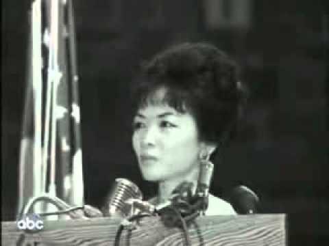 Madam Ngô Đình Nhu diễn thuyết tại đại học Fordham Newyork năm 1963
