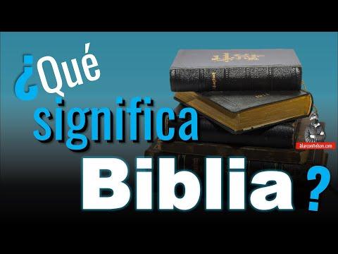 ¿Qué Significa Biblia? 📖
