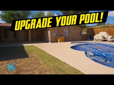 hqdefault - Drainage, Stamped Concrete, Cool Decking Around A Pool With Sprinklers & Sod - Concrete Floor Pros