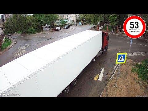 """""""Безопасный Серпухов"""". Новая 53-я IP-камера, ДТП с грузовиком - демо-видео со звуком... 08 мая 2018."""