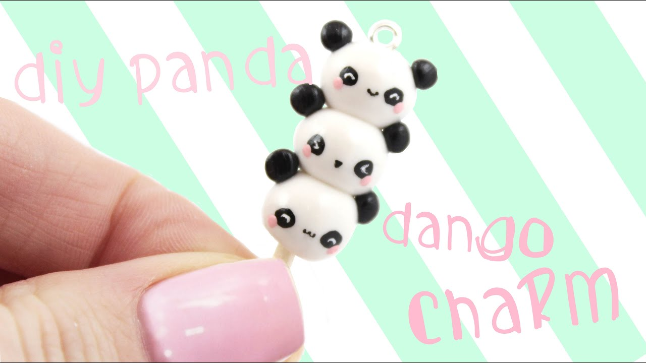 Diy Panda Dango Charm Kawaii Friday Youtube Hot Trending Now