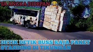 sadisss Sampai sampai  Ban Depan  Ta Angka!!!Buss Raja Paket Sulawesi