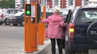15 июня в центре Курска включились паркоматы