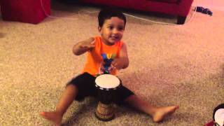 Zaayan singing tagdum bazai Bangladesher dhol with a drum