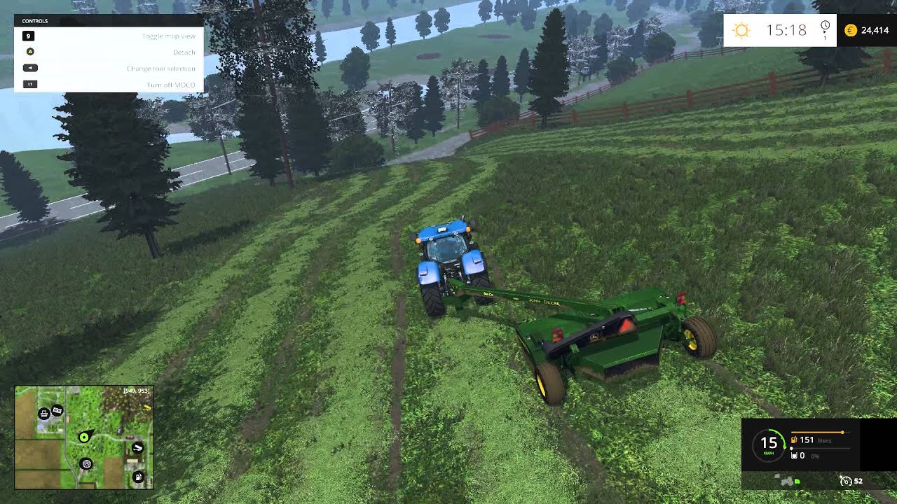Farming Simulator Slått Del YouTube - Southern norway map ls15