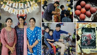 Nikhil Birthday Vlog Full Family Get together  Balloon Arch decoration at home  Twins vegkitchen