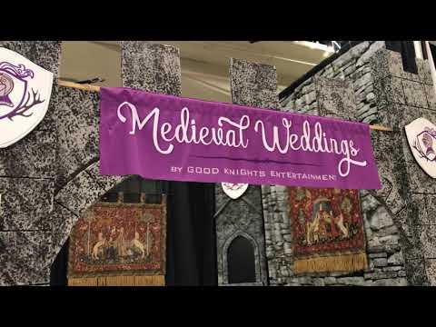 Medieval Wedding Display at 2018 Calgary Wedding Fair