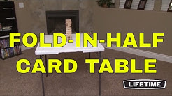 "Lifetime 34"" Square Card Tables 80273 White Fold-in-Half Folding Table"