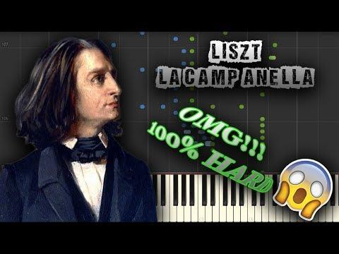 OMG!!! 100% HARD - Liszt - La Campanella - [Piano Tutorial] (Synthesia) (Download MIDI + PDF Sheets)