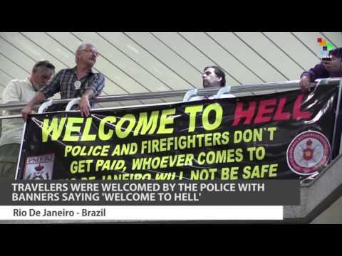 Brazilian Police Protest at Rio Airport
