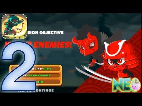 Ninja Dash: Gameplay Walkthorugh Part 2 - World 2 Ryujin Roofs (iOS, Andorid)