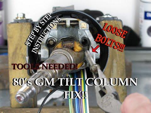 G Body Tilt Steering Column Fix!!! 1987 Olds 442: Video 42