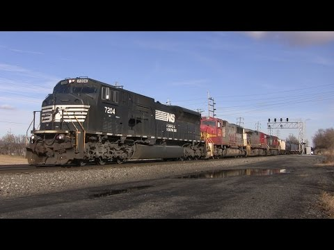 Trains on the Norfolk Southern Harrisburg Line Winter 2015