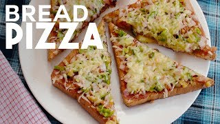Bread Pizza Recipe   Quick and Easy Bread Pizza without Oven   Yummy Nepali Kitchen