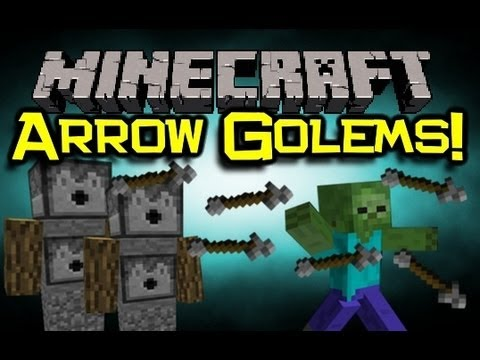Minecraft arrow golems mod spotlight protect your world - Minecraft golem de diamant ...