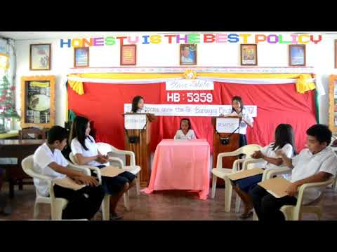 GURO21 CLASS DEBATE ON HB 5359  to postpone anew the Barangay Election 2017