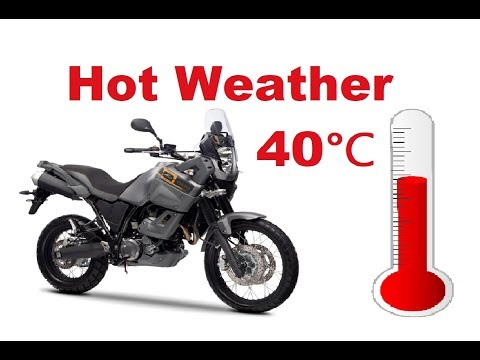 Top 5 Mistakes you might make when you ride a motorcycle in hot
