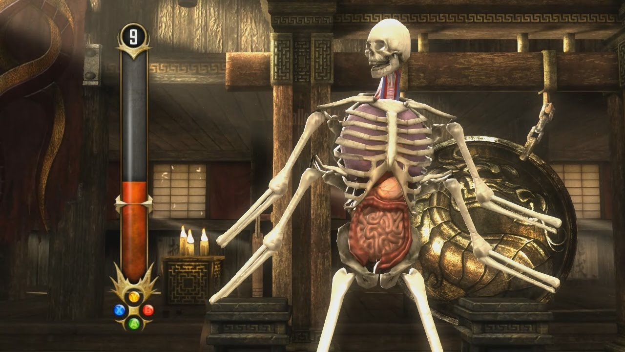 Mortal Kombat 9 Komplete Edition - All Test Your Might with Skeleton ...