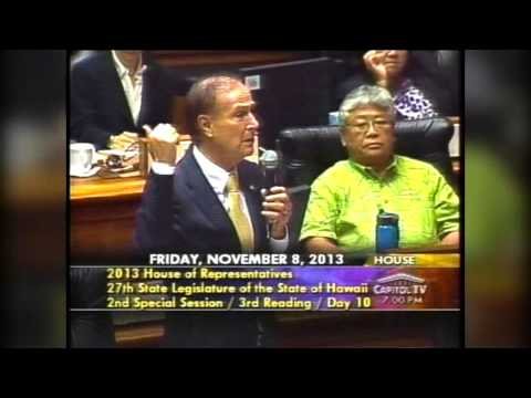 Rep. Gene Ward - Hawaii House final vote on SB1