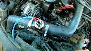 VW Golf III не працює вентилятор охолодження двигуна, згорів блок управління