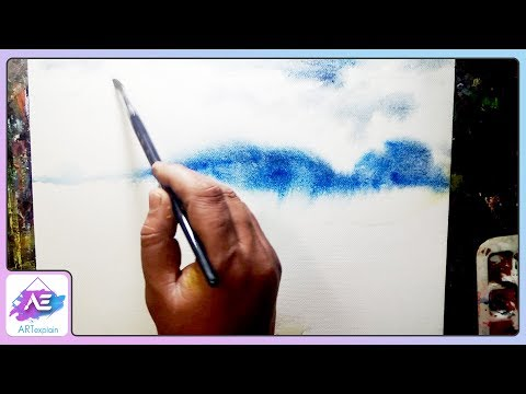 Green village watercolor landscape painting  | How to watercolor | Art Explain