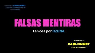 Download Falsas Mentiras -Ozuna (Karaoke) MP3 song and Music Video