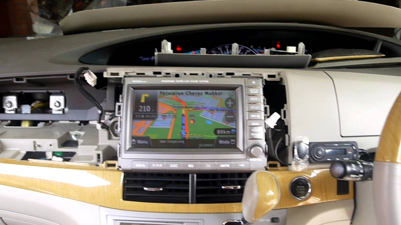 2011 Camry Wiring Diagram Toyota Estima Acr 50 Original Head Unit With Papago Gps