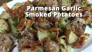 Parmesan Garlic Smoked Potatoes | Smoked Potatoes Recipe With Malcom Reed Howtobbqright