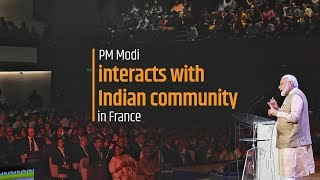 PM Modi interacts with Indian community in France