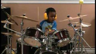 Finger Eleven - Paralyzer, Drum Cover, 4 Year old Drummer