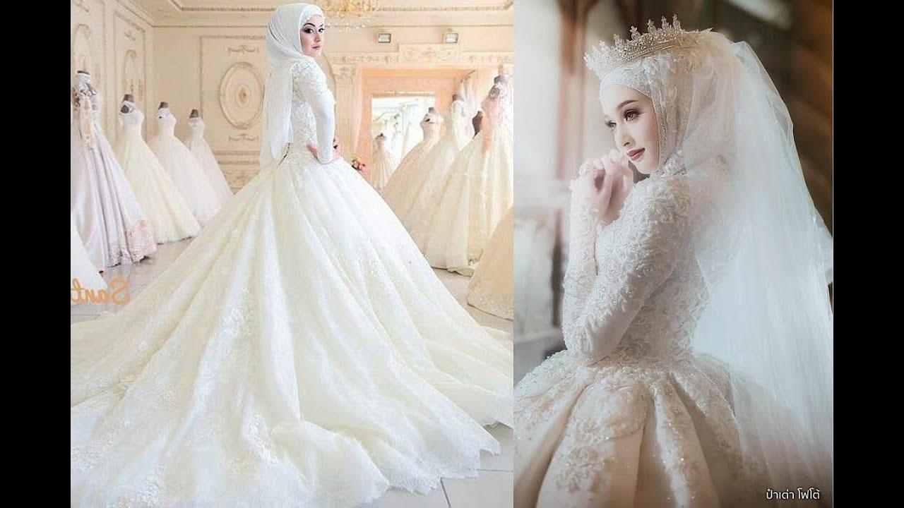 6f0b868ee15bb  فساتين زفاف للمحجبات عرض أزياء رائع جدا- 2019 💖  Gelinlik Tesettür  Abiyeleri