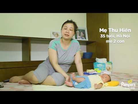 Bà mẹ 2 con đã chuyển dùng từ miếng lót sơ sinh sang Tã dán Pampers Newborn