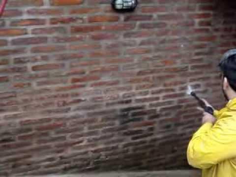 Hidrolavado de paredes y frentes de ladrillos vista youtube - Pared de ladrillo ...