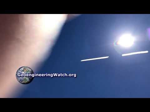 Geoengineeringwatch.org Govt Controlled Opposition Captures Jet Spraying Chemtrails - Normalization