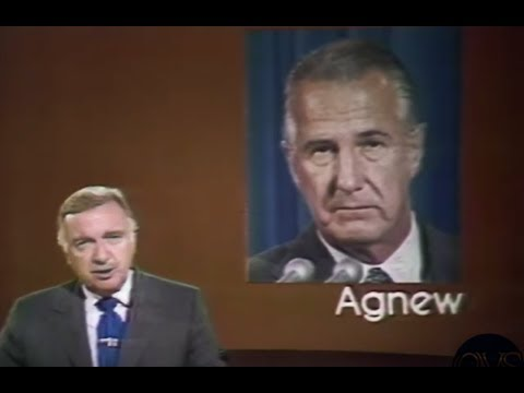 "KFMB-8  KNBC-4 (Oct 10,1973)  Vice President ""SPIRO AGNEW RESIGNS"" News.."