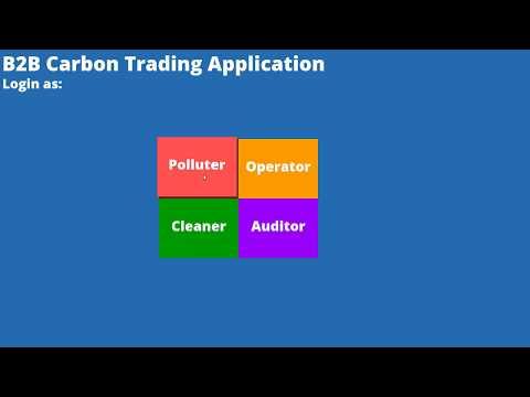 B2B Carbon Trading Application v0.0.1 Demo
