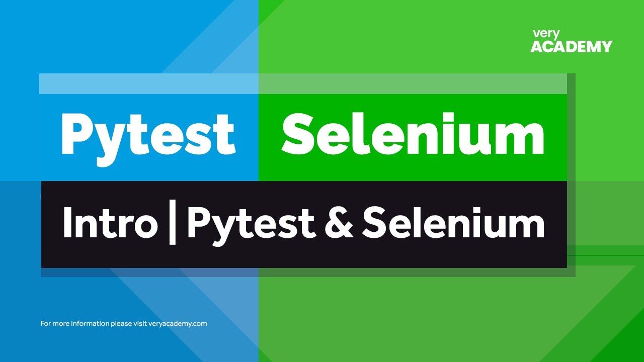 Pytest | Selenium | Python Django - Intro Testing with Pytest, Selenium and Django