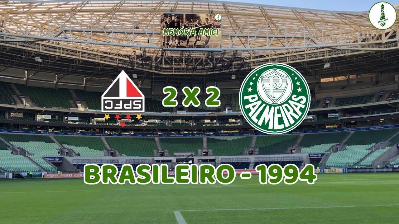 SÃO PAULO 2 x 2 PALMEIRAS - JOGO NERVOSO PELO BRASILEIRO 94