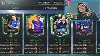 FICHANDO JUGADORAZO !!! MAS DE 9 MILLONES DE MONEDAS !!!    FIFA 18 MOBILE