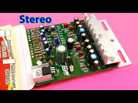 Amplifier using ic 4440,with USB & Bluetooth (Part 1)