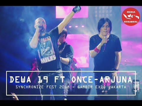Dewa 19 Feat Once Mekel - Arjuna | Synchronize Fest 2018