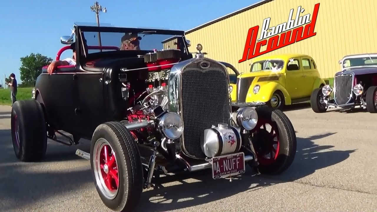Hot Rods Muscle Cars and Burnouts - Charity Rod Run 2013 - Wright ...