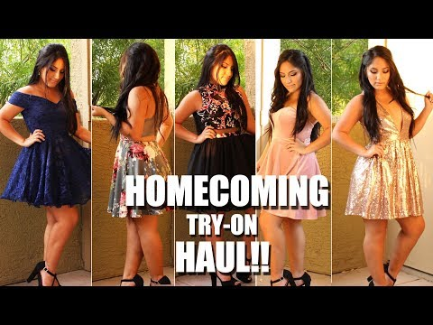 HOMECOMING Dresses Try-On HAUL 2017!!!!