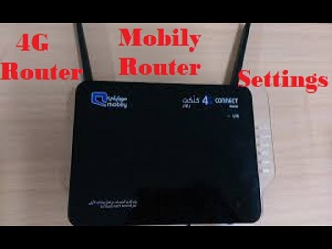 Mobily 4G Router settings and change the password