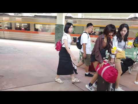 108/7/31首班原住民族日彩繪列車,等了兩天402次太魯閣自強號終於抵達台東站***
