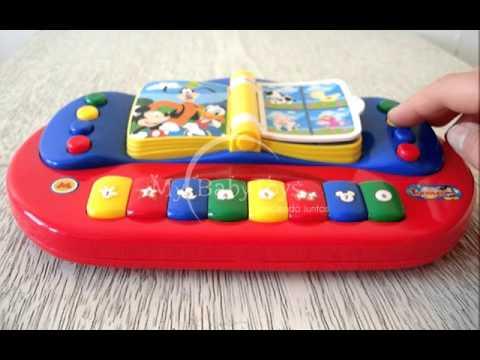 Piano Libro Musical con Luz Mickey Mouse de Ditoys My Baby Toys