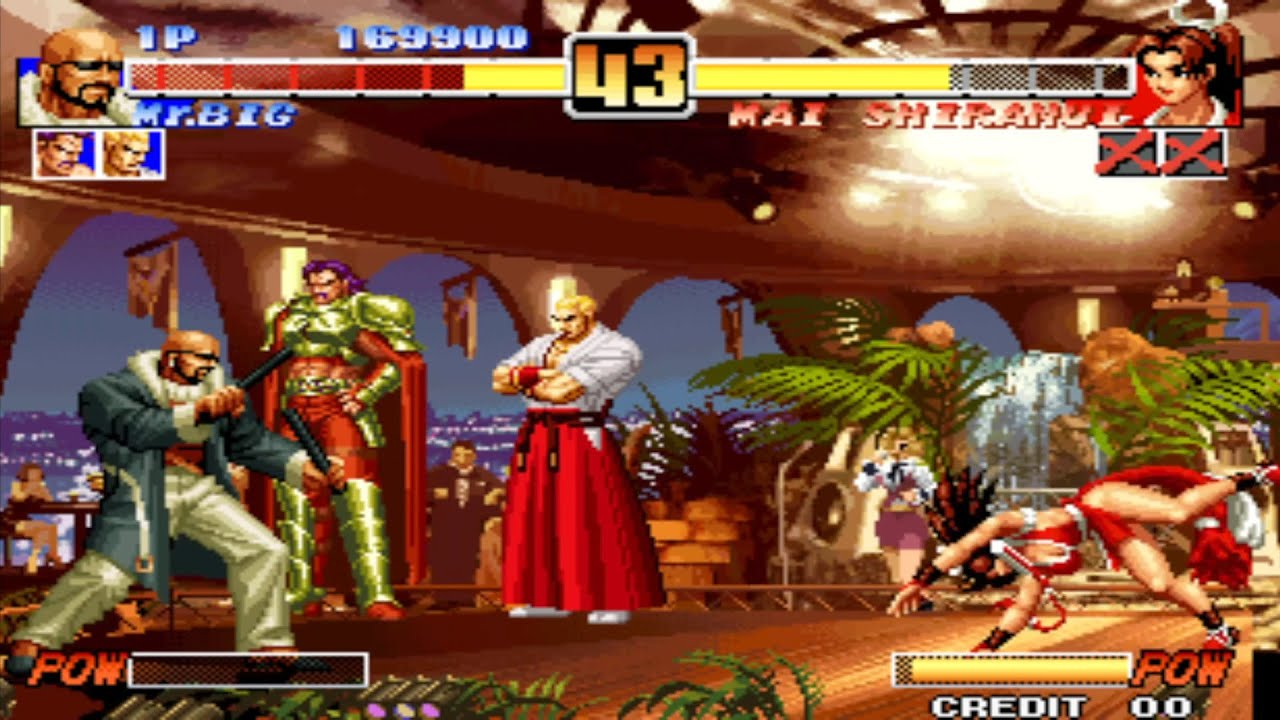 King Of Fighters 96 Arcade Geese Krauser Mr Big Youtube