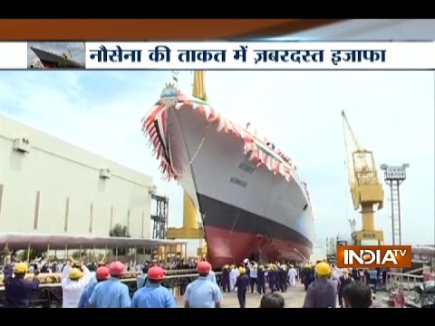 Mormugao: Indian Navy Gets Advanced Guided Missile Destroyer Warship