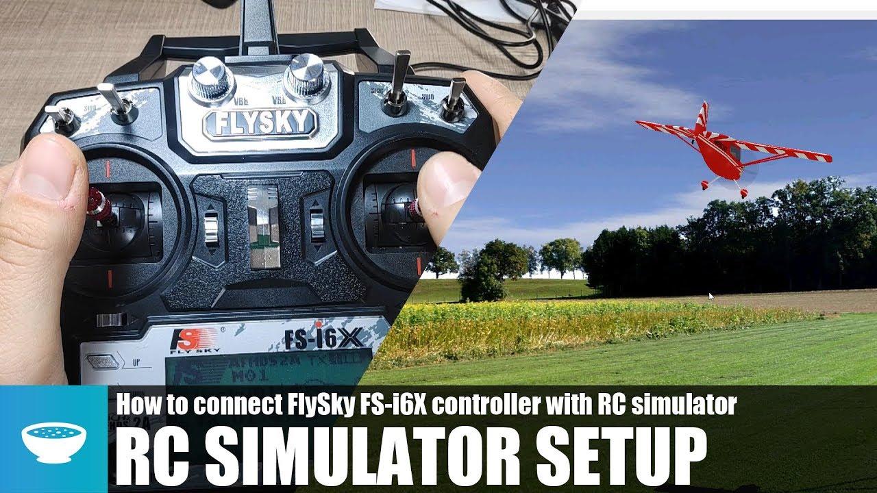 FlySky FS-i6X Setup With a RC Simulator: 5 Steps
