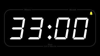 33 MINUTE - TIMER & ALARM - Full HD - COUNTDOWN